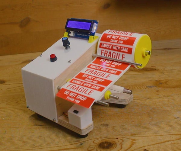 DIY Arduino Based Auto Label Dispenser Machine