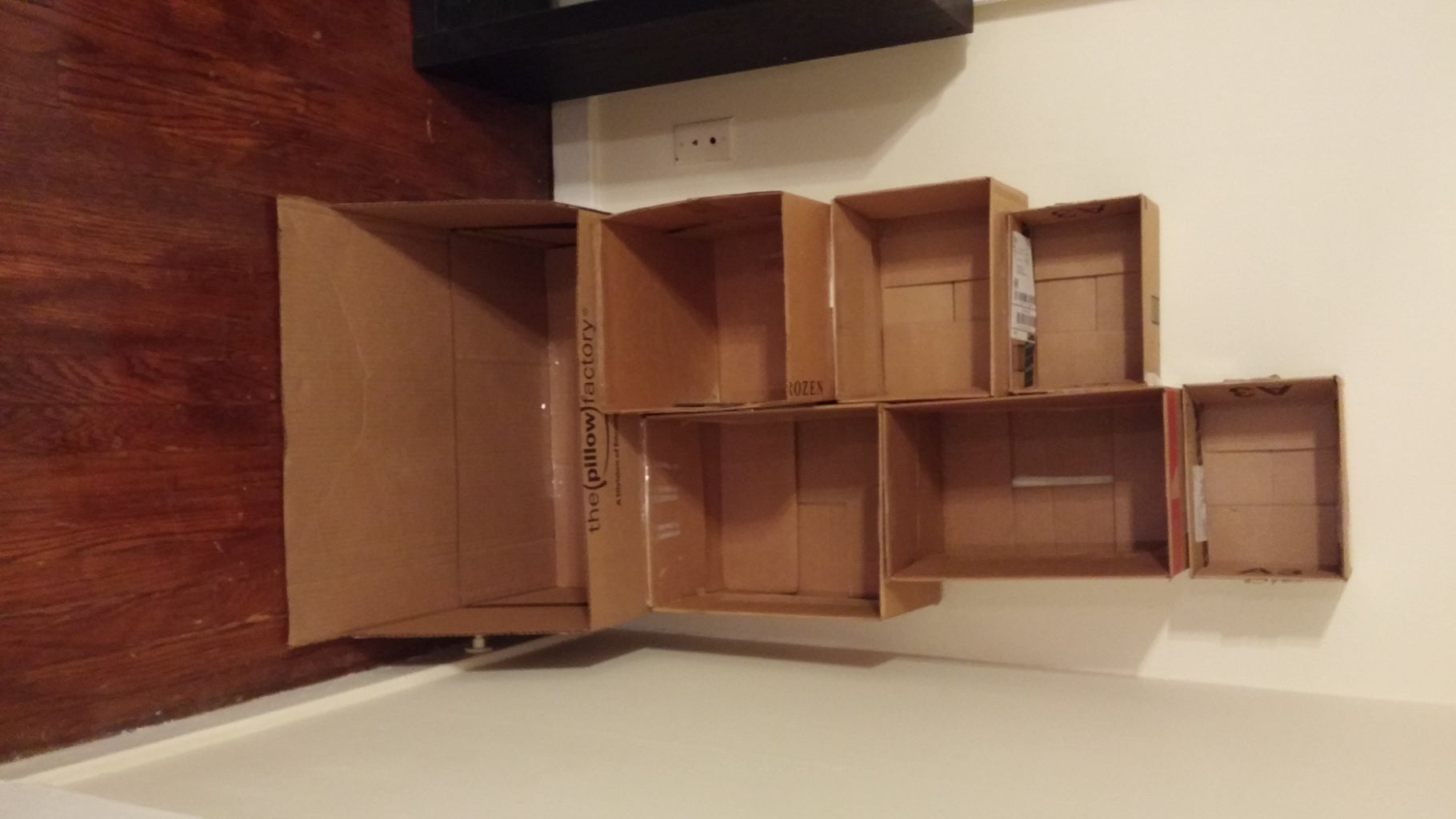 Tape Top Box Configuration to Base