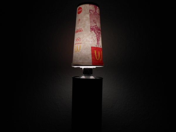 Paper Cup Lamp