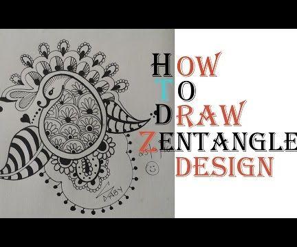 How To Draw Best Zetangle Paisley Design Tutorial
