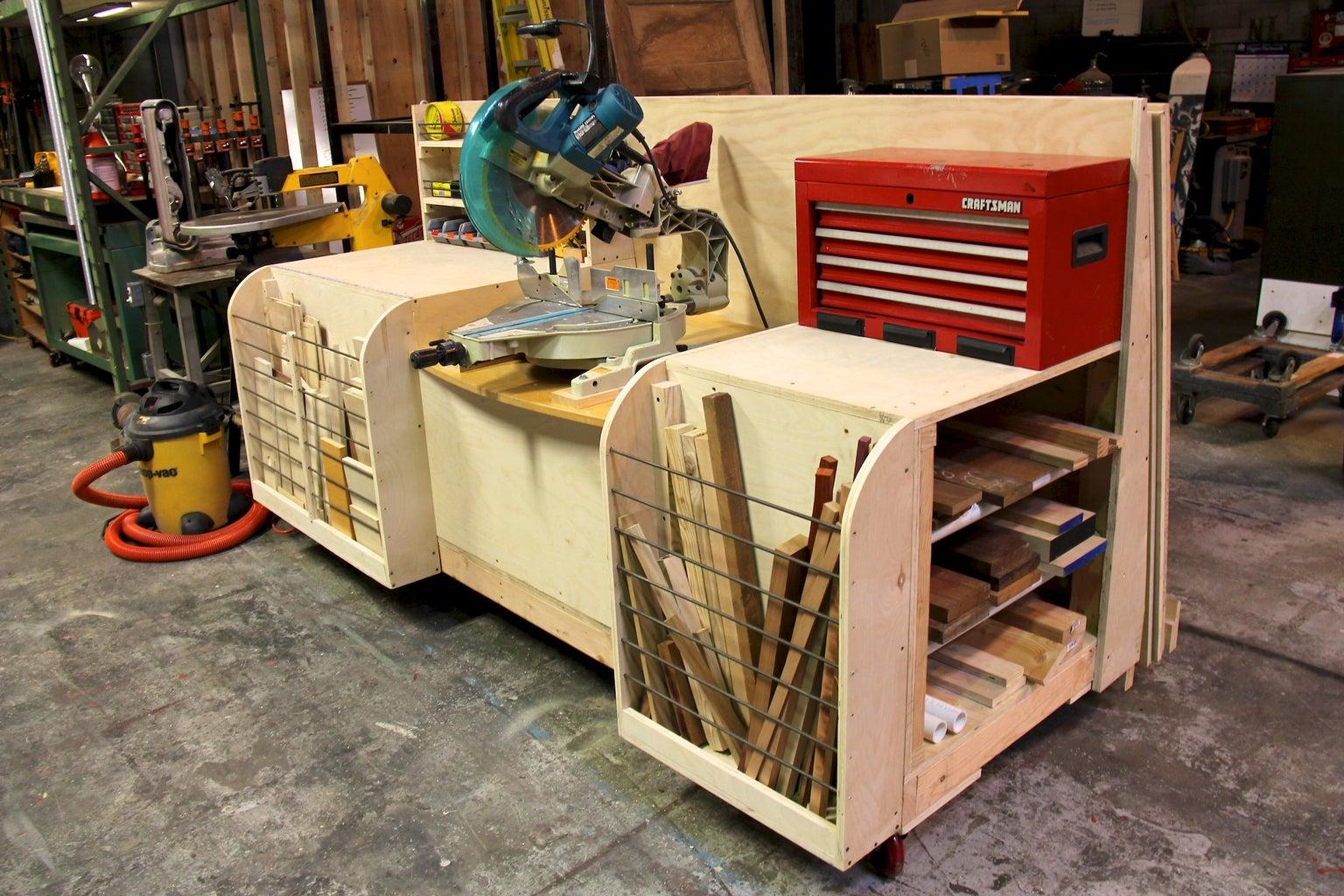 Combo Miter Saw Station Lumber Rack
