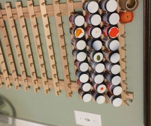Craft or Model Paint Storage Rack on the Cheap