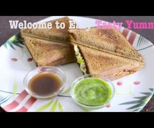 Curd Veggi Sandwich Recipe : How to Make Curd Sandwich