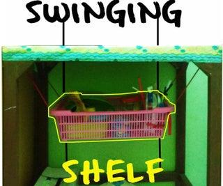 Small Room Hack: Swinging Shelf