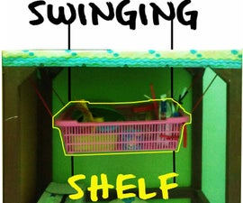 Small Room Hack: Swinging Shelf