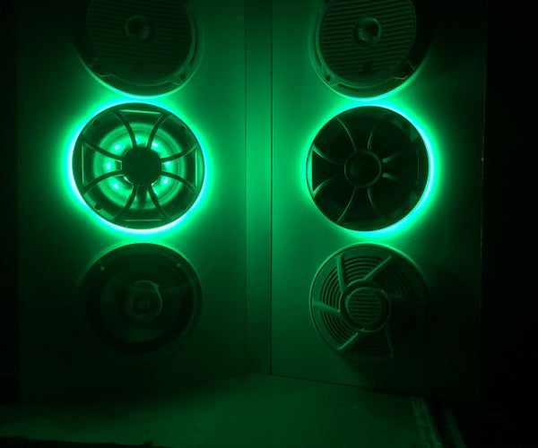 RGB LED Speaker Ring Install Wetsounds Xs-65 Xs-650