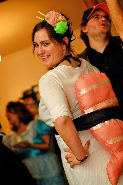 Sushi (Nigiri) Costume With Headpiece