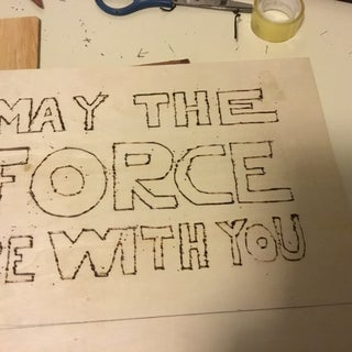 Star Wars Quote Woodburnt Wallhanging