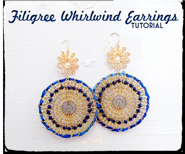 Filigree Whirlwind Earrings