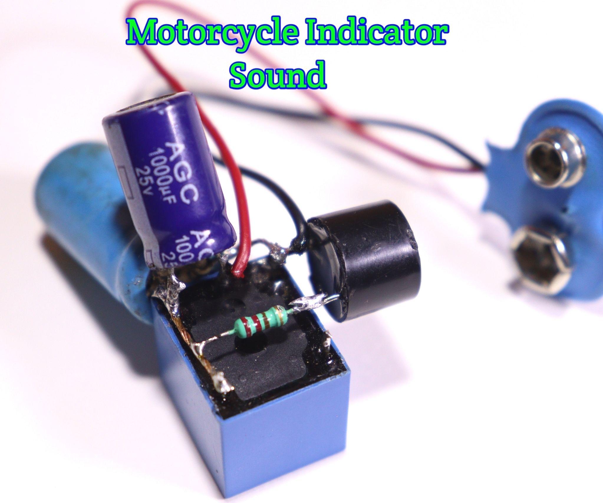 MotorCycle Indicator Sound Generator Using Relay