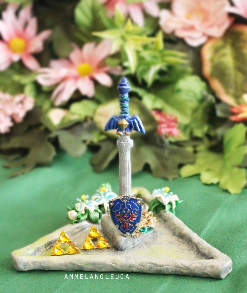 Master Sword Trinket Dish (Polymer Clay)