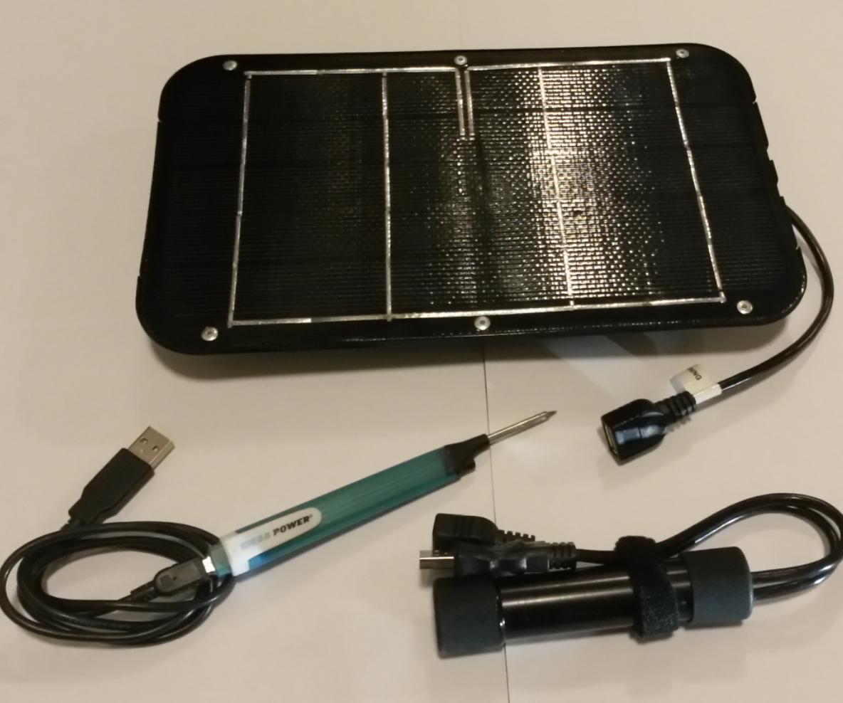 Solar Powered Soldering Station