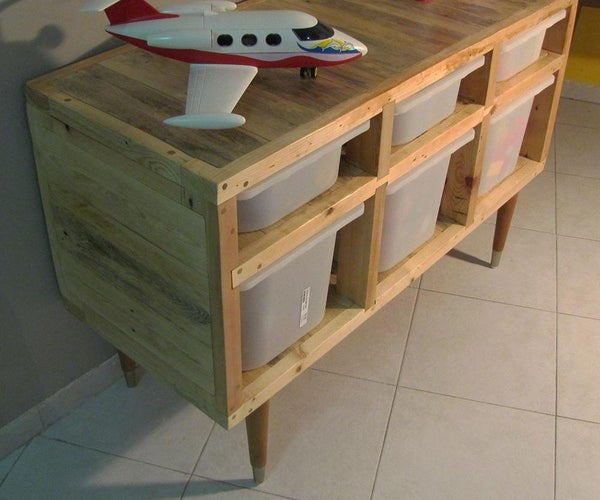 How to Build Storage Boxes Cabinet From Recycled Materials