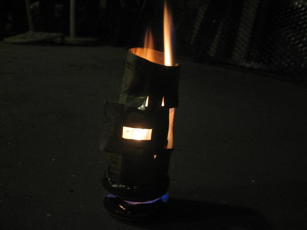 Stay Warm With an Alcohol Stove!