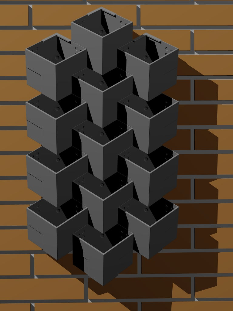 3D Printed Wall Hanging Planter Module