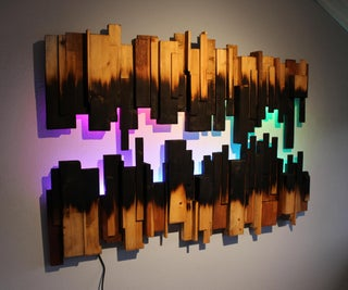 Burned Wood Wall Art
