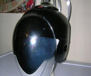"Light Up Robot Helmet With ""Cybernetic Brain"""