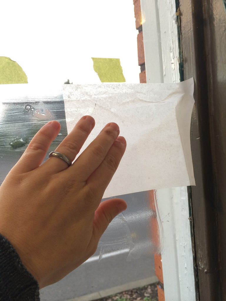 Application of Tissue Paper to Windows