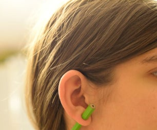 """Pencil Through Ear"" Earring"