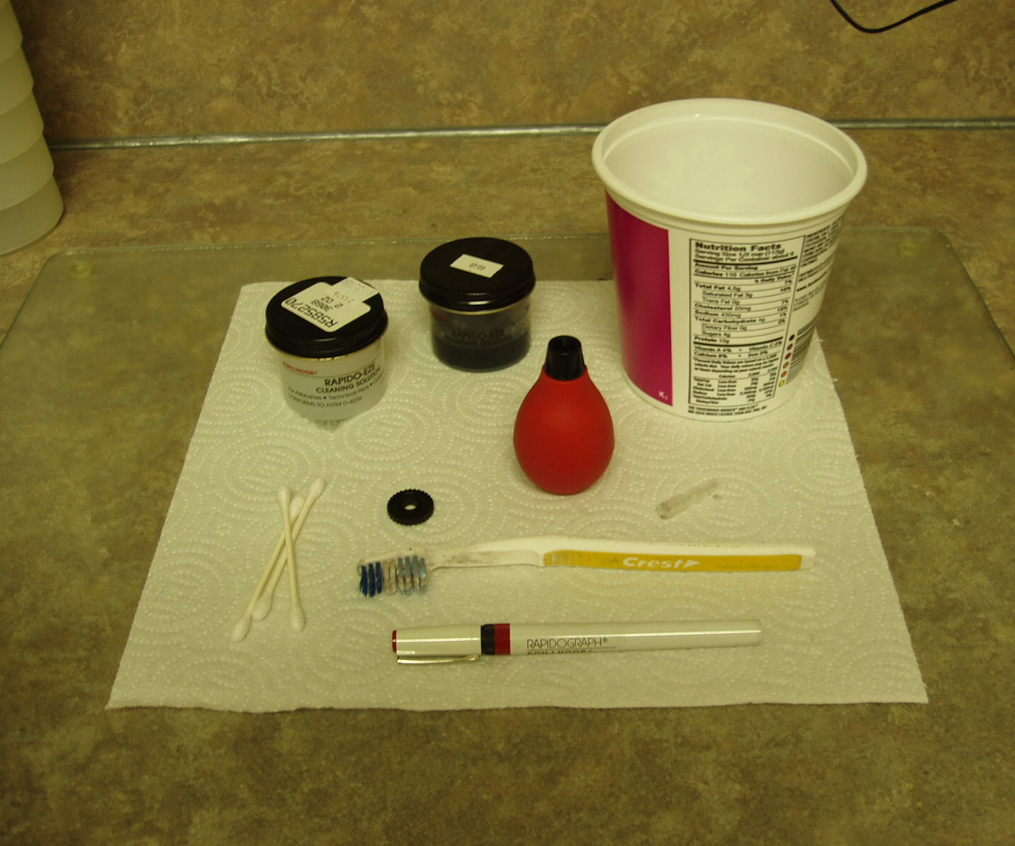 Cleaning Rapidograph Pens