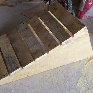 Kicker Ramp Made From Old Wooden Pallet