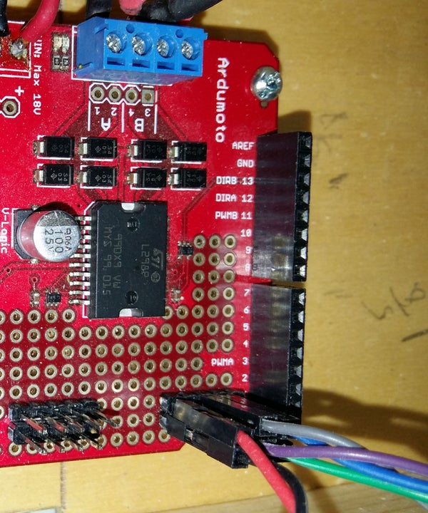 How to Use Less Arduino Pins With the L293d