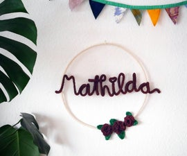 Beautiful Nursery Decor With Wire and Wool
