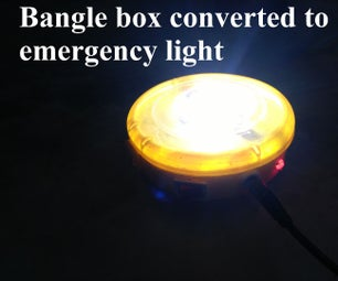 Bangle Box Converted to Emergency Light