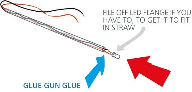 Thread Wires Through Drinking Straw