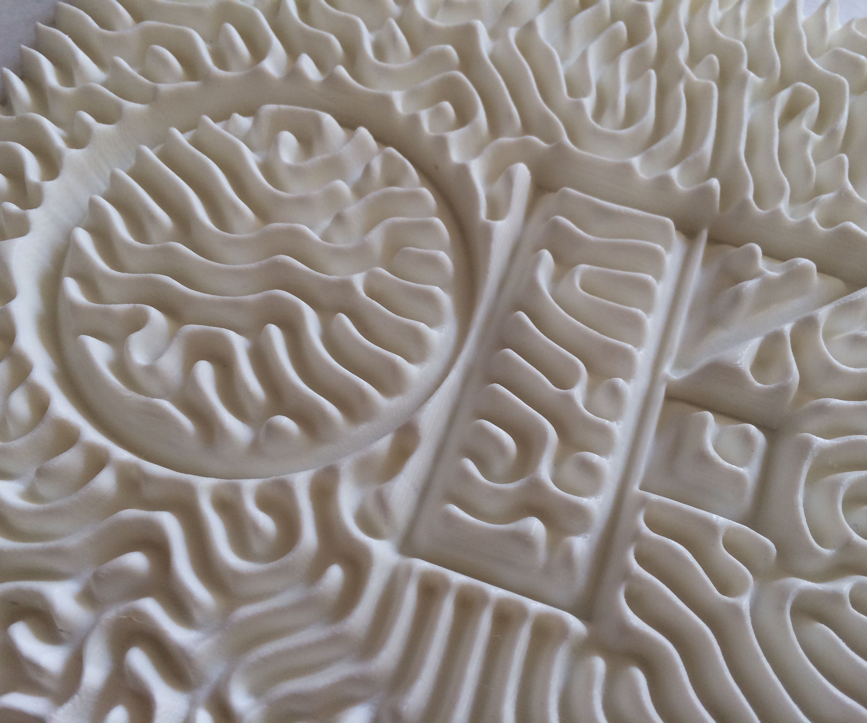 3D Printed Reaction Diffusion Patterns