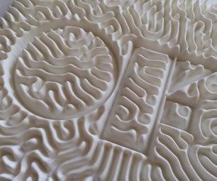 3D Printed Reaction Diffusion Patterns
