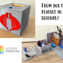 Product Design for School: Portable Playset in a Box (with Quick Deployment Action!)
