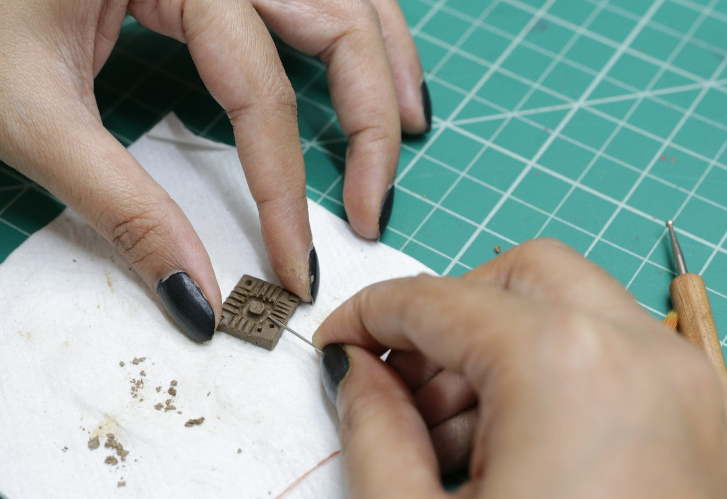 Make Designs on Clay