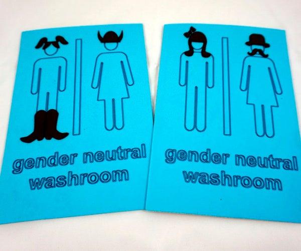 Gender Neutral Washroom Sign
