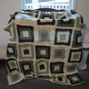 Green Granny Square Blanket