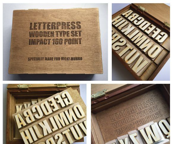 LASER CUT LETTERPRESS TYPE