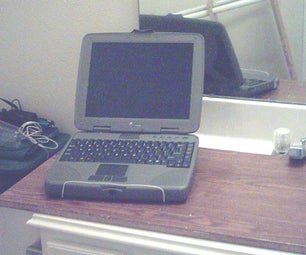 One Coat Hanger Laptop Stand