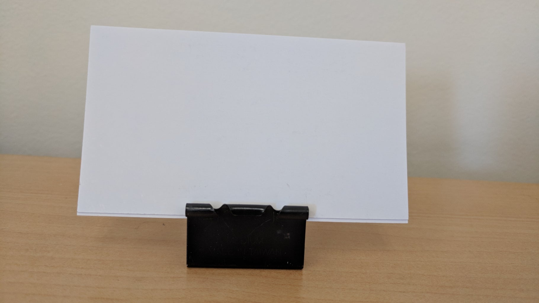 Free DIY Business Card Stand Using Office Supplies