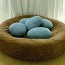 Robin's Egg Bird Nest Bed Lounge