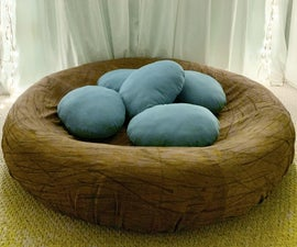 Robin's Egg Bird Nest Bed Lounge