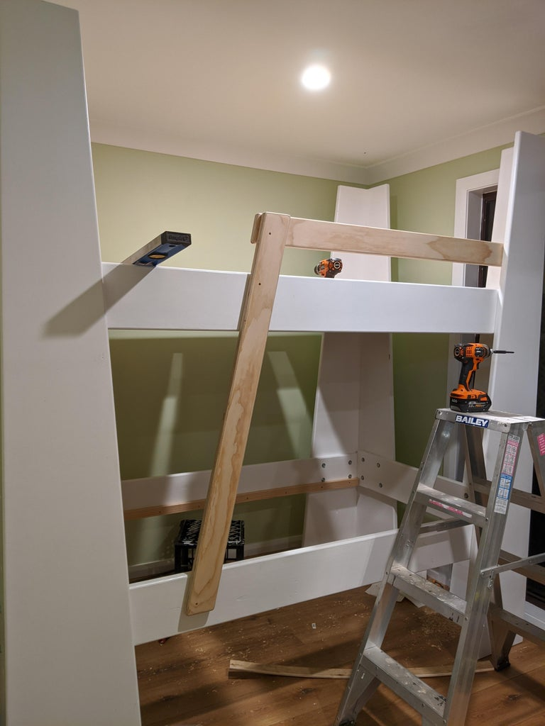 Attach the Ladder and Safety Rail