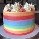 Rainbow Buttercream Layer Cake