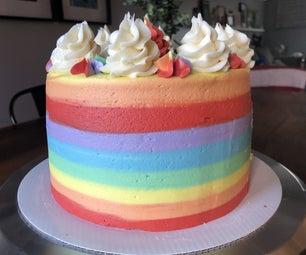 彩虹奶油层蛋糕