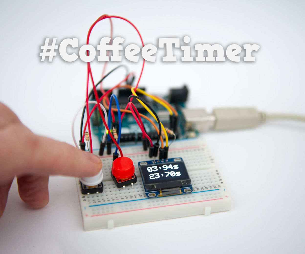 Dual Coffee Timer : OLED & Arduino
