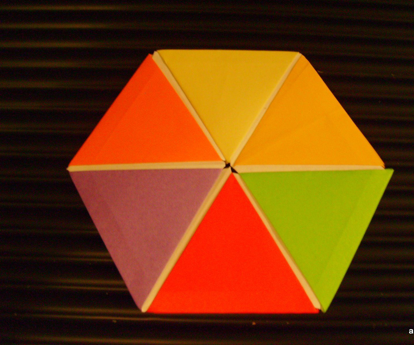 Origami of Regular Hexagon From Equilateral Triangles