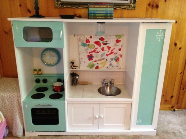TV Stand Turned Into Play Kitchen!