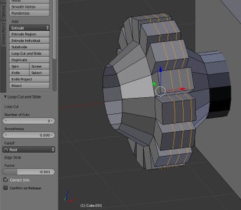 Manipulating Objects: Subdividing- Loop Cut and Slide