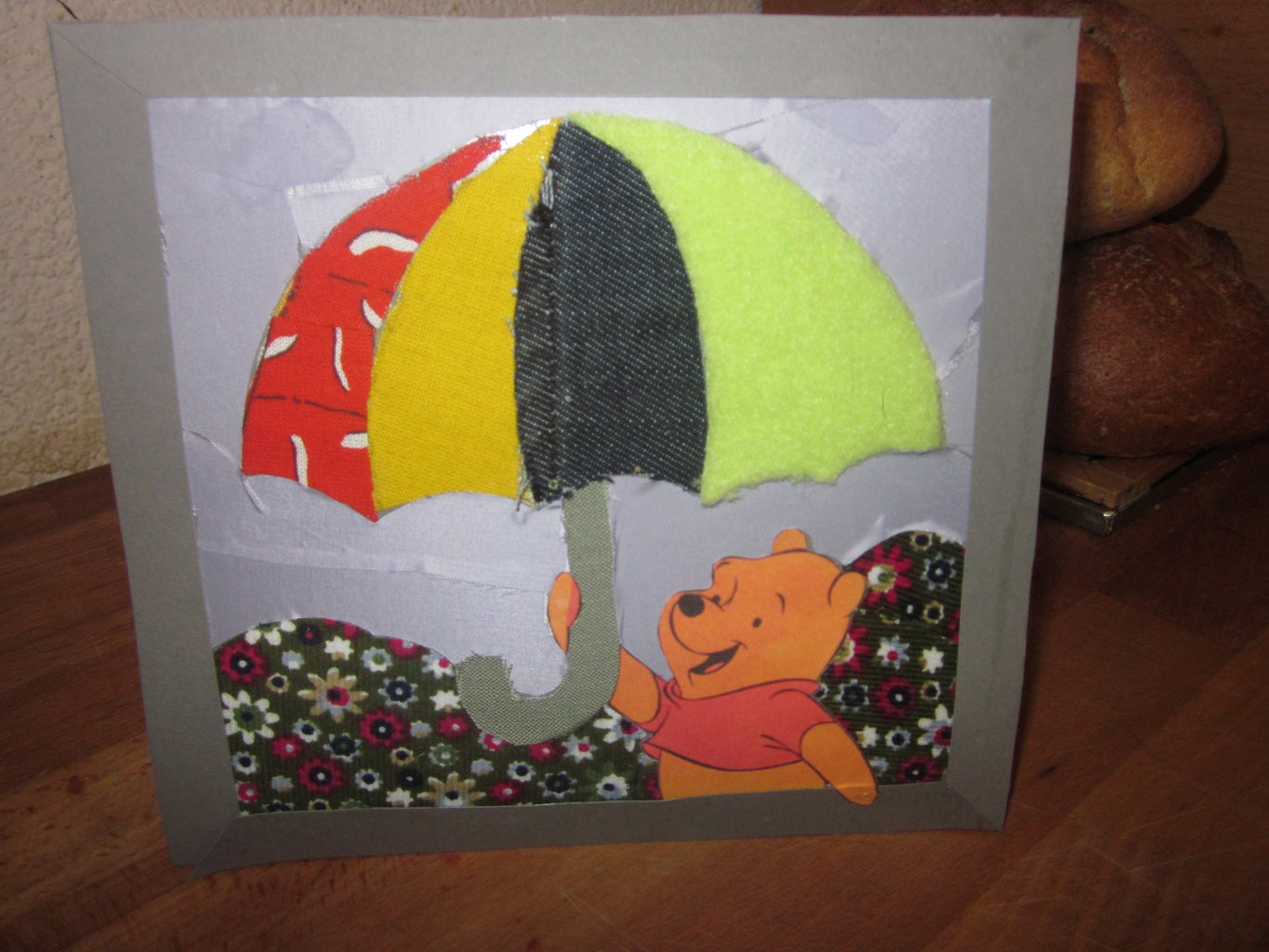 Greeting Card From Scrap Fabric.