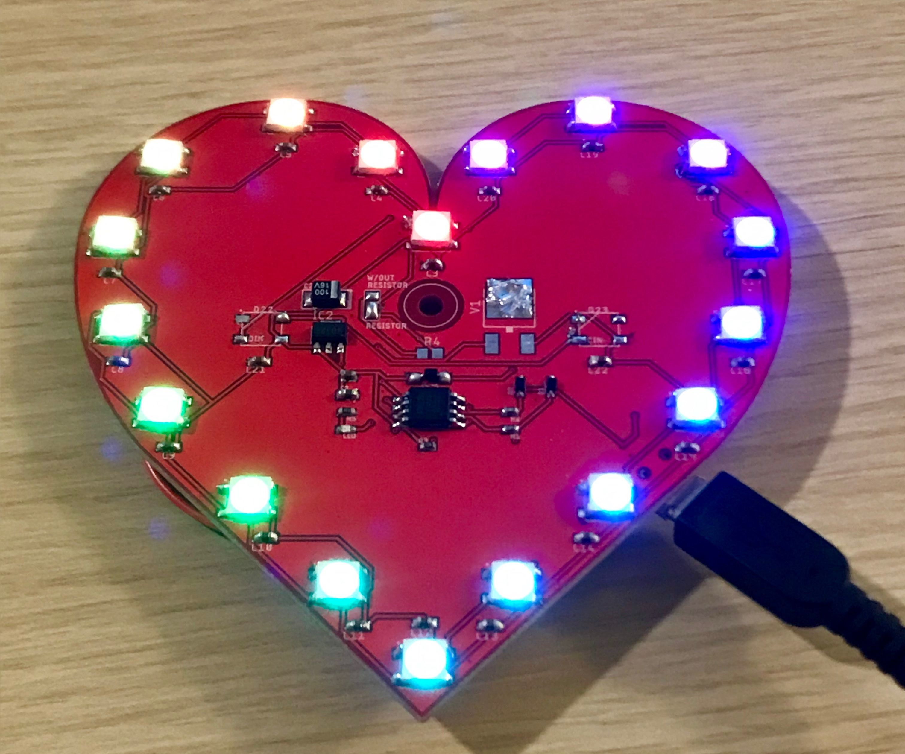 Valentines PCB Heart