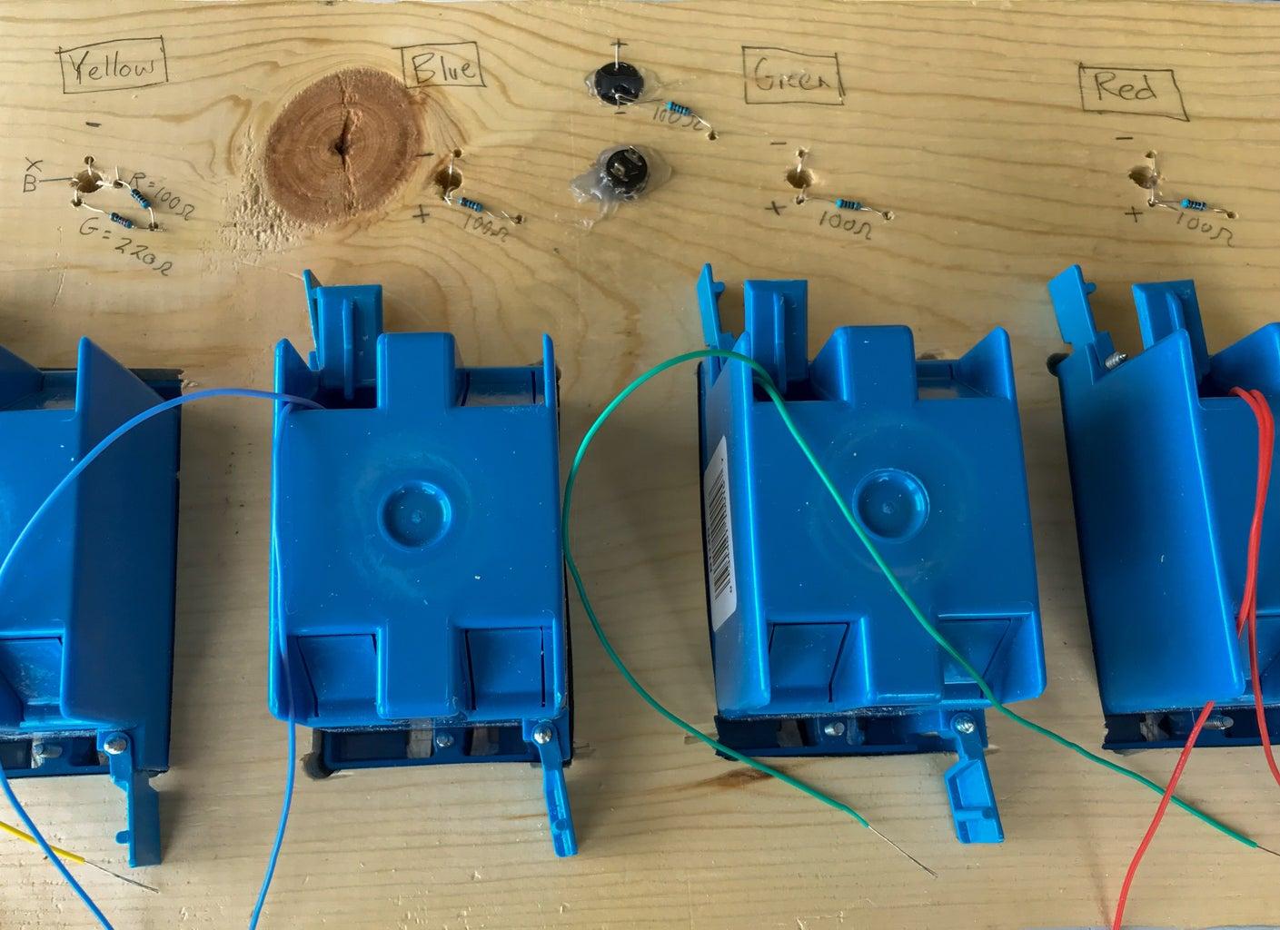 Mount and Solder Resistors